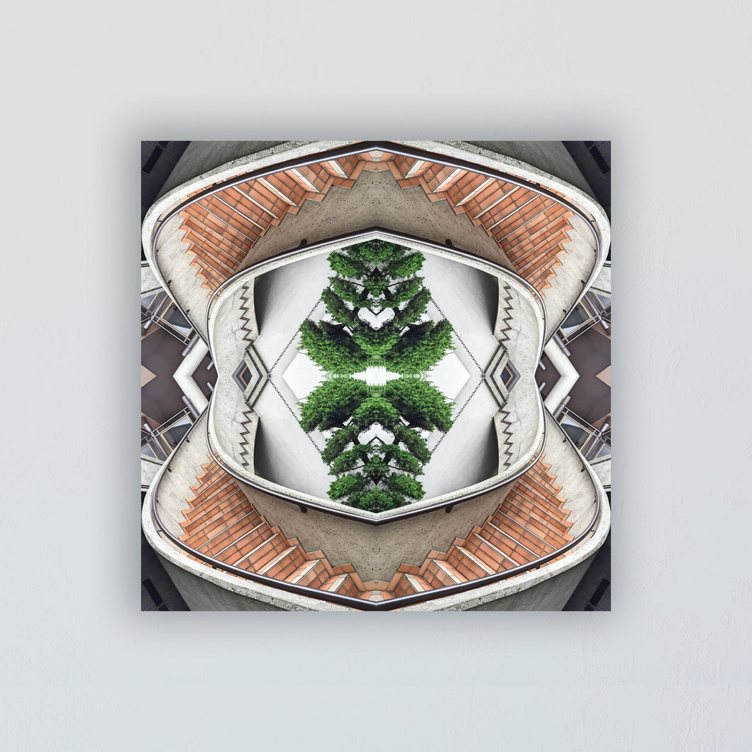 Mounted Print: The Infinite Stairs Mandala