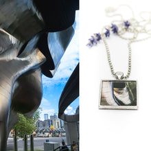 Necklace - Resin Coated Pendant - Digital Art - Museum of Pop Culture Seattle - Square