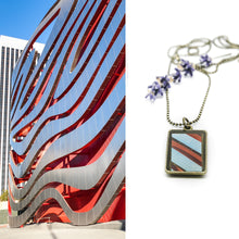 Necklace - Resin Coated Pendant - Digital Art - Petersen Museum Los Angeles - Rectangle