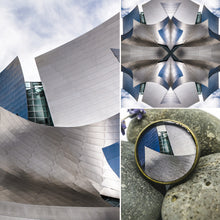 Adjustable Ring - Resin Coated - Digital Art - Walt Disney Concert Hall Los Angeles