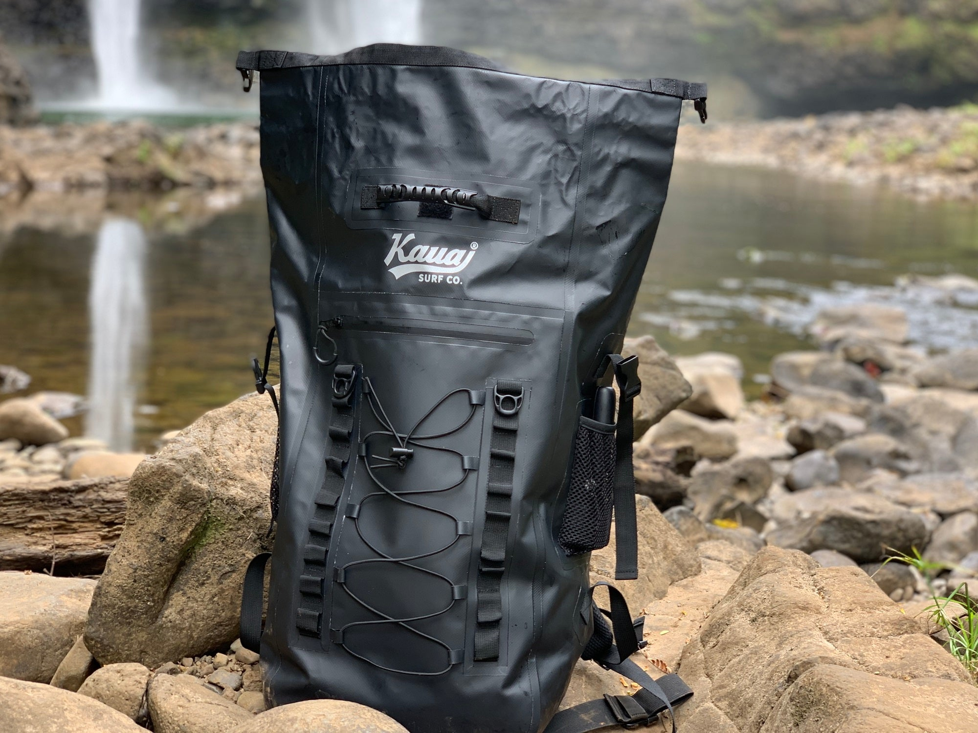 40L Black Waterproof Backpack