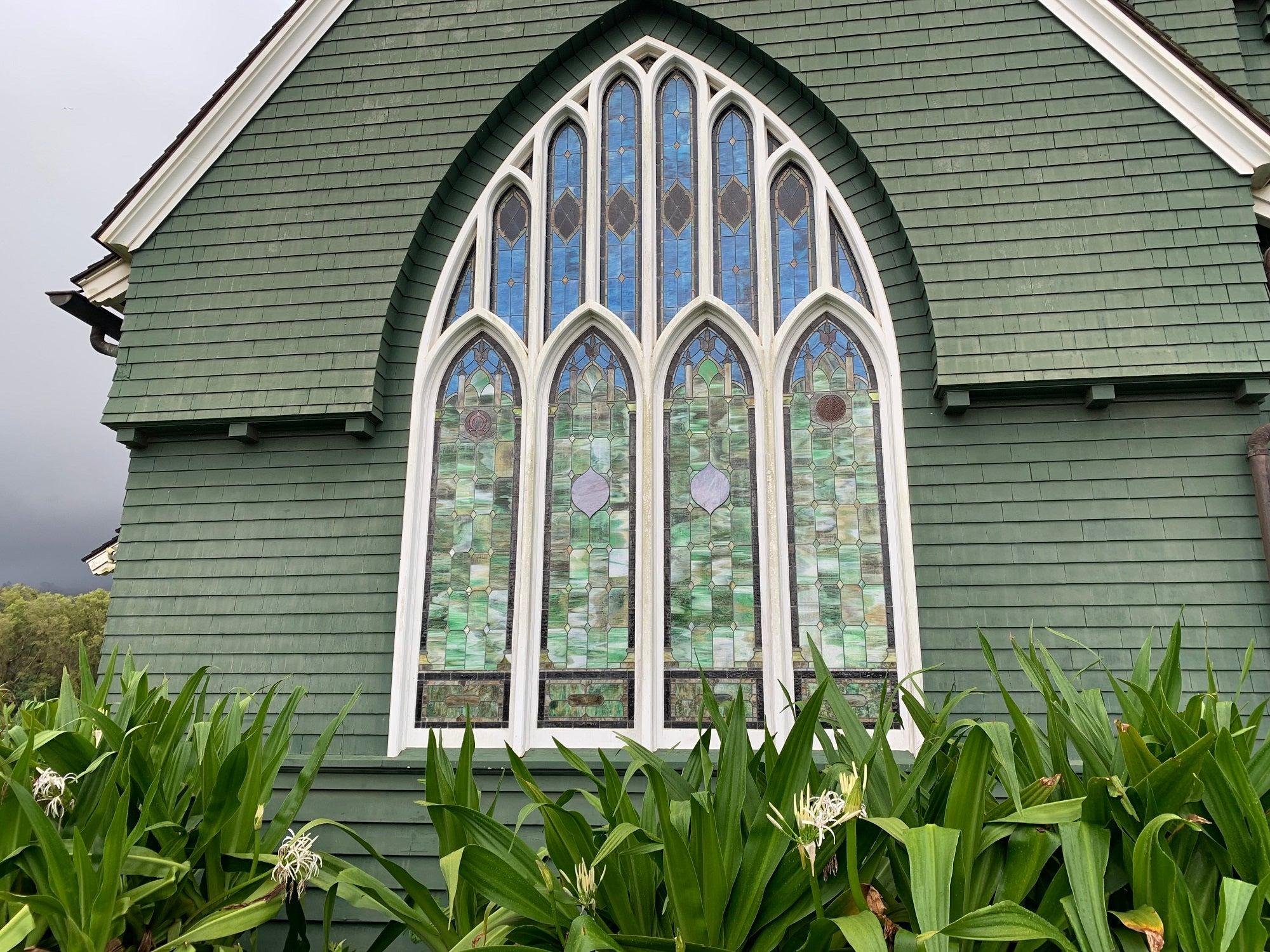 Hanalei Church Stained Glass Windows
