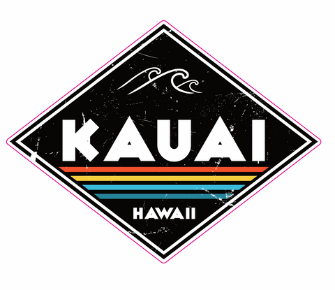 Kauai Black Diamond Sticker