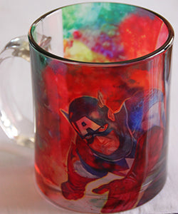 Chizzel'd Designs: Captain America Glass Mug - LoG-Marketplace