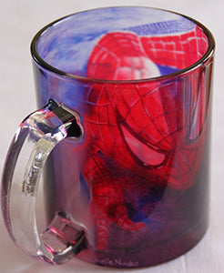 Chizzel'd Designs: Spiderman Glass Mug - LoG-Marketplace