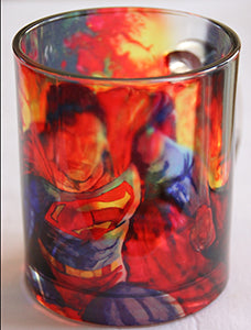Chizzel'd Designs: Superman Glass Mug - LoG-Marketplace