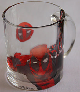 Chizzel'd Designs: Deadpool Glass Mug - LoG-Marketplace