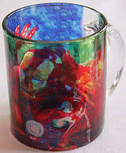 Chizzel'd Designs: Ironman Glass Mug - LoG-Marketplace