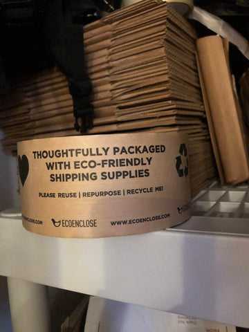 Sustainable shipping materials-paper tape - 4 the greater good