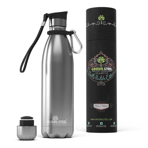 Greens Steel stainless water bottles are perfect for keeping drinks cold at sporting or outdoor events