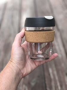 The KeepCup includes a BPA free plastic stop cap to reduce spills