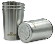 Greens Steel 4 Pack stainless steel cups come in 10 oz or 16 oz options