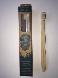 Brush with Bamboo Toothbrushes are 100% plastic free and do not include glue or tape