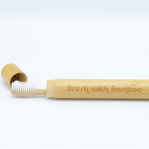 Our Bamboo toothbrush travel case is 100% plastic free and sustainably harvested