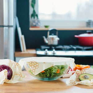 Beeswax wraps 3 pack are great for cheese, carrots, lemons, avocados and more