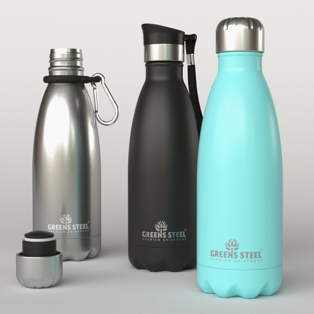Stainless Steel Water Bottles - Double Wall Insulated