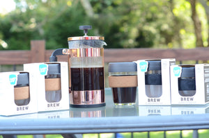 The KeepCup has the option for a BPA free or cork band to protect your hand from hot contents