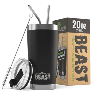 Stainless Steel Insulated Tumblers - Greens Steel Beast - 20oz & 30oz