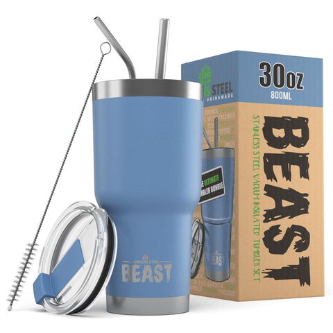 30 oz. BEAST Tumbler - Greens Steel