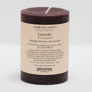 Lavender Beeswax Candle - Made in USA - Queen Bee