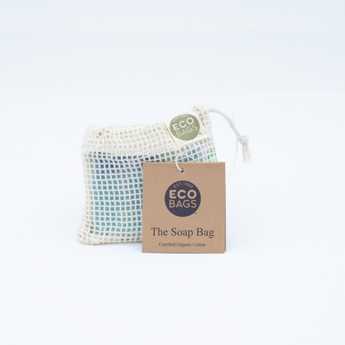 Organic cotton soap saver - soap bag