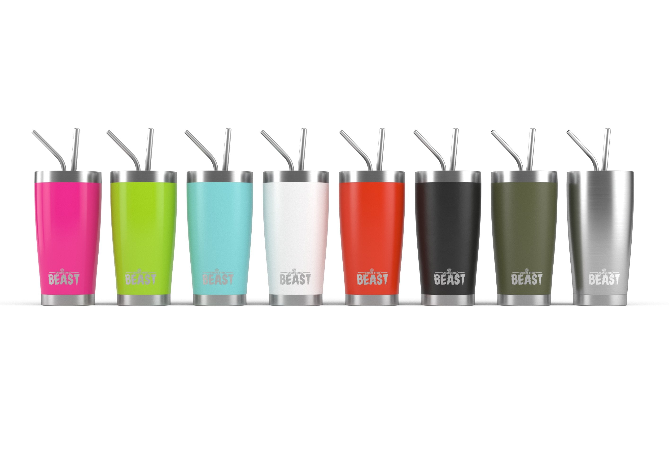 20 oz. Stainless Steel Tumblers - Greens Steel Beast