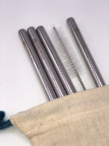 4 The Greater Good stainless steel 4 pack include travel case and straw cleaner