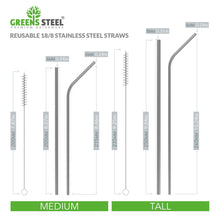 Greens Steel stainless steel straws are plastic free and are reusable