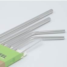 Greens Steel 4 pack of stainless steel straws are rust free and come with a lifetime guarantee