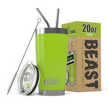 20 oz Beast Stainless steel tumblers are double walled to keep your contents hot or cold for hours