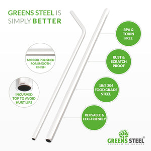 Stainless Steel Straws - 4 Pack