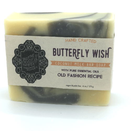 Vegan Palm Oil Free Bar Soap - Fanciful Fox - Butterfly Wish
