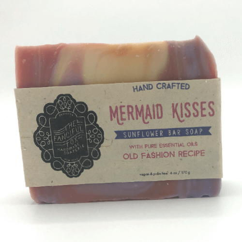 Vegan Palm Oil Free Bar Soap - Fanciful Fox - Mermaid Kisses