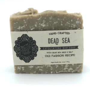 Vegan Palm Oil Free Bar Soap - Fanciful Fox - Exfoliating Dead Sea Soap