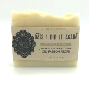 Vegan Palm Oil Free Bar Soap - Fanciful Fox - Oats I Did It Again
