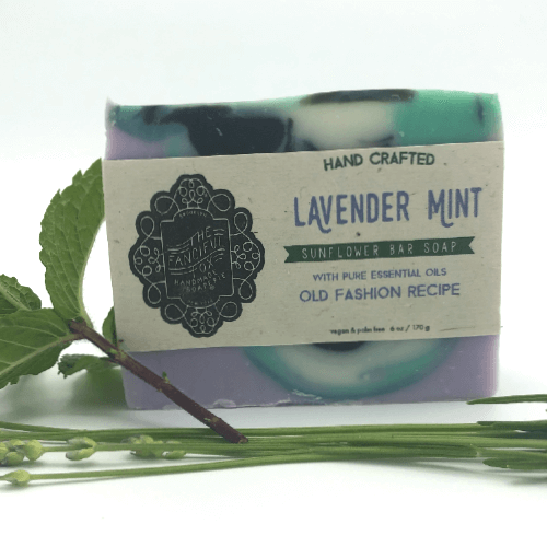 Vegan Palm Oil Free Bar Soap - Fanciful Fox - Lavender Mint