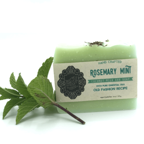 Vegan Palm Oil Free Bar Soap -Fanciful Fox- Rosemary Mint
