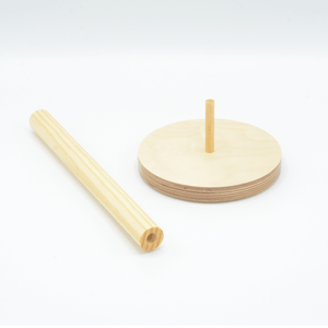 Wood Paper Towel Holder - Made in USA