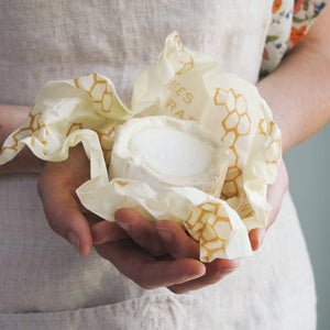 Organic bees wraps are reusable and are made in the USA
