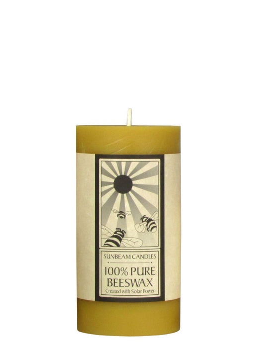 Beeswax Candles - Smooth Pillar Candles - Made in USA