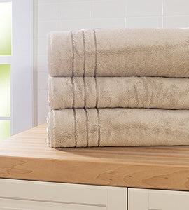 Cariloha Bamboo Bath Sheet by Highly Absorbent - Odor Resistant - Moisture Wicking (Beachwood)