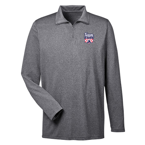 Men's Heathered Performance 1/4 Zip