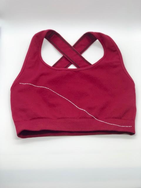 Phat Buddha Cranberry Crystal Accent Sports Bra OS