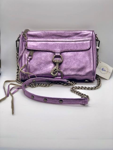 Rebecca Minkoff Mini Mac Purple Iridescent Bag