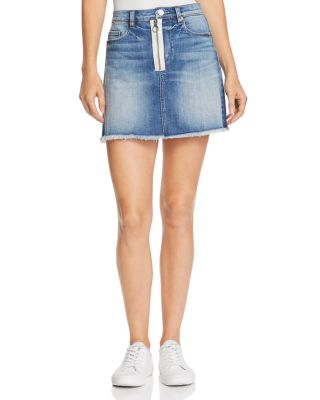 BlankNYC Denim Zip Front Mini Skirt Size 31