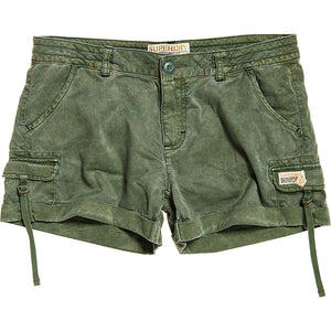 Superdry Army Green Cargo Shorts Sz 6