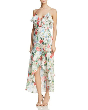 Bardot Womens Ruffled Floral Faux Wrap Dress Size 10