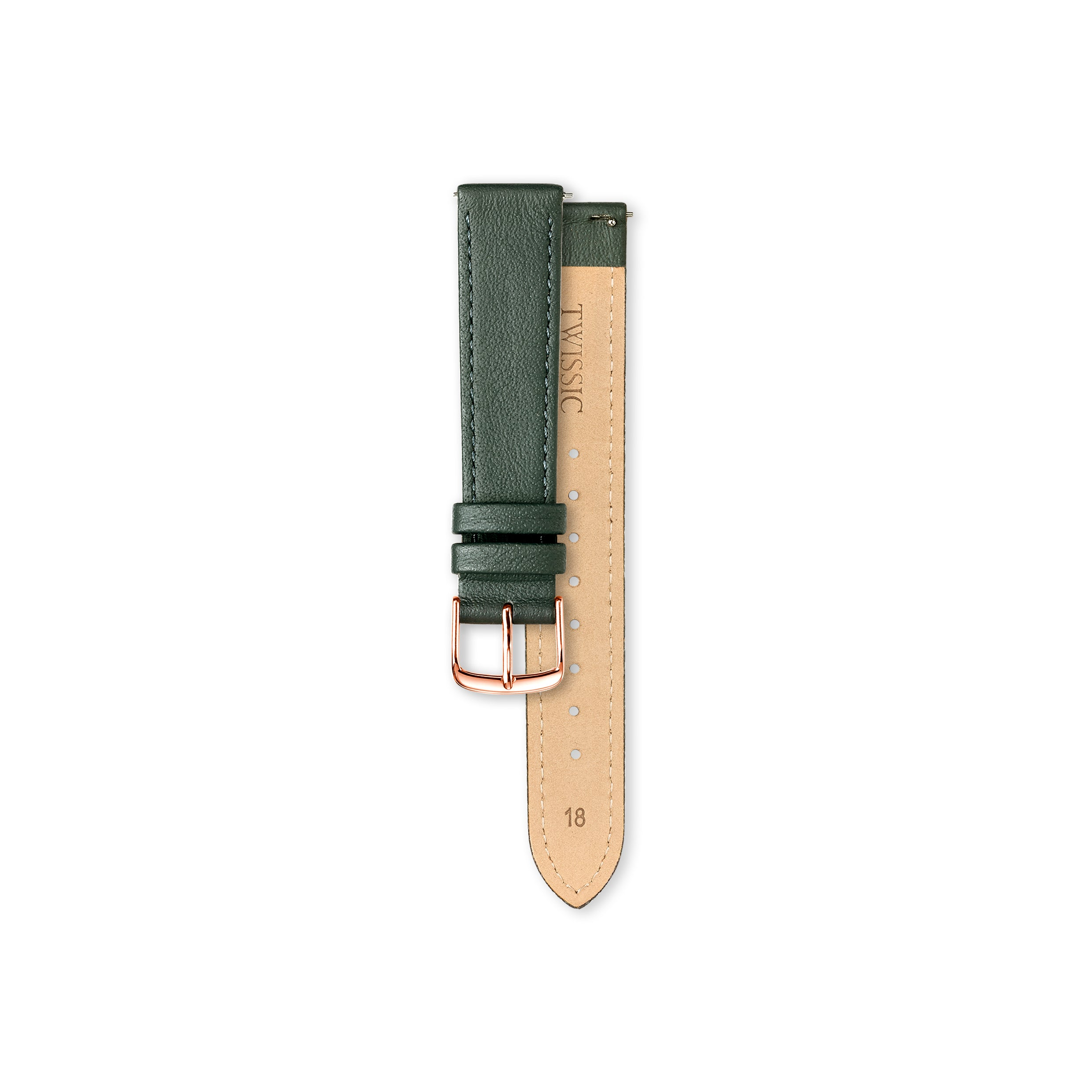 Christmas gift set Medium (34mm/18mm) - Brick Red & Rifle Green Straps