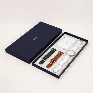 Gift Set Large (38mm/18mm) - Brick Red & Rifle Green Straps