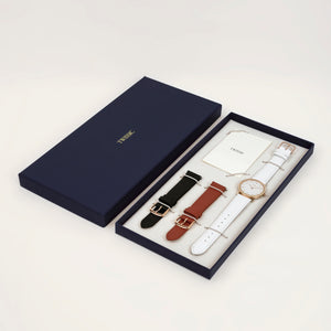 Gift set Medium (34mm/18mm) - Brick Red & Black Straps